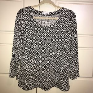 Habitat black and white tunic